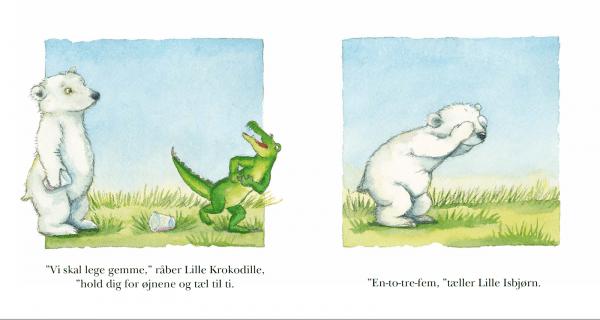 Lille Krokodille gemmer sig