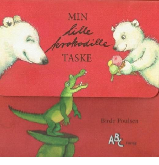 MIN lille krokodille TASKE - med 3 bøger