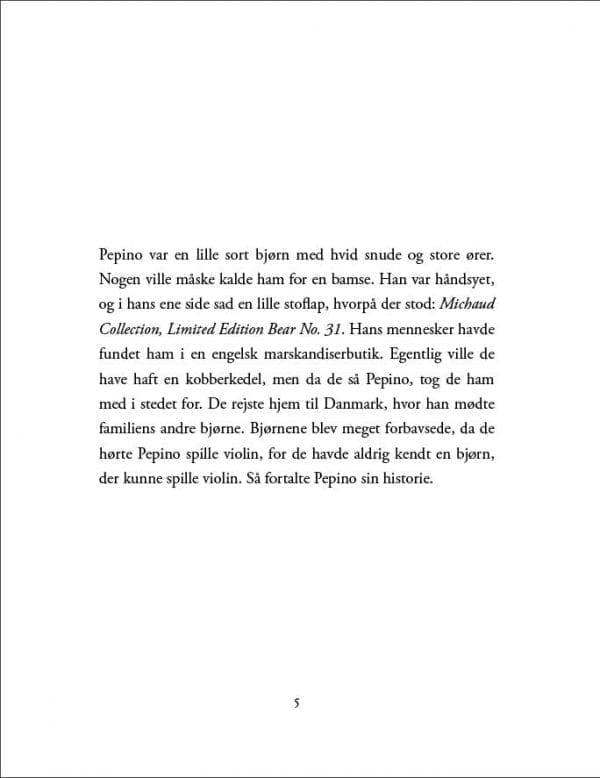 Pepino - bjørnen der spillede violin; e-bog
